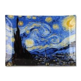 Talerz dekoracyjny -Vincent Van Gogh The starry night 20x28