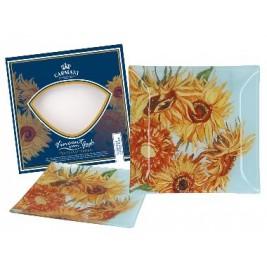 Talerz dekoracyjny Vincent Van Gogh - Słoneczniki 13x13