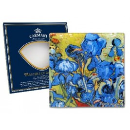 Talerz dekoracyjny Van Gogh - Irysy 13x13