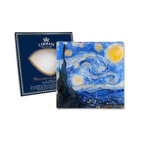 Talerz dekoracyjny Vincent Van Gogh - Gwiaździsta noc 13x13