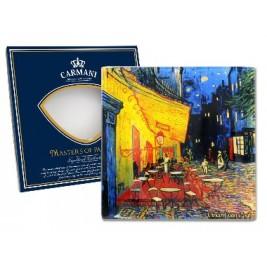 Talerz dekoracyjny Vincent Van Gogh - Taras kawiarni w nocy 13x13