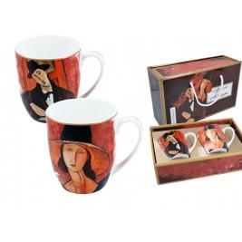 Kpl. 2 kubków - A. Modigliani Kobieta w kapeluszu i Mario Varvogli
