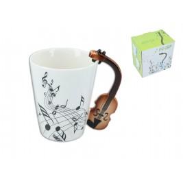 Kubek muzyczny 250 ml - skrzypce