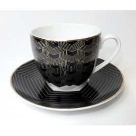 Zestaw 2 filiżanek ze spodkami 250 ml Arte Porcelana Bogucice