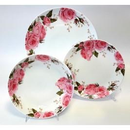 Komplet talerzy dla 6 osób 18 elementów - Windsor Porcelana Bogucice