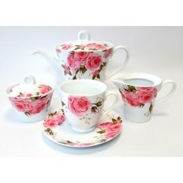 Serwis do herbaty dla 6 osób 9 elementów - Windsor Porcelana Bogucice