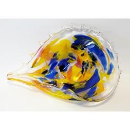 GLASS patera muszla 40 cm
