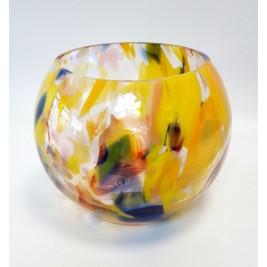 GLASS wazon (kula) 20 cm