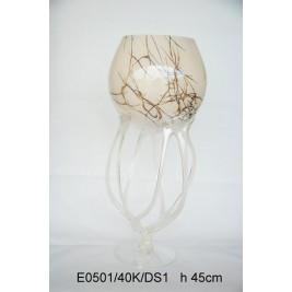 GLASS świecznik (paterka) 45 cm