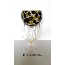 GLASS świecznik (paterka,krzak) 25 cm