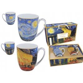 Komplet 2 kubków 450 ml - Van Gogh Taras kawiarni nocą
