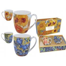Komplet 2 kubków 450 ml - Van Gogh Słoneczniki i Irysy