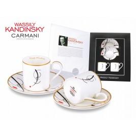 Zestaw 2 filiżanek ze spodkiem do espresso 120 ml  - Wassily Kandinsky