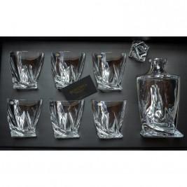 BOHEMIA Quadro zestaw do whisky 1 karafka 6 szklanek