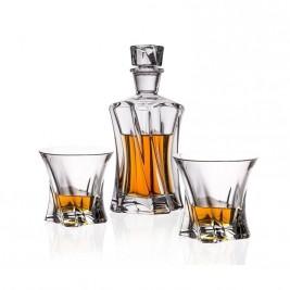 BOHEMIA Cooper zestaw do whisky 1 karafka 6 szklanek