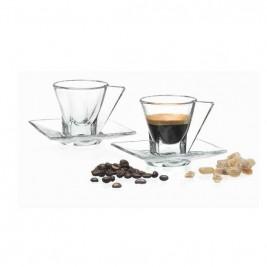 RCR Fusion komplet 2 filiżanek ze spodkami 70 ml espresso