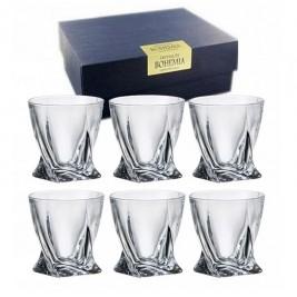 BOHEMIA Quadro szklanka whisky 340 ml kpl 6 szt