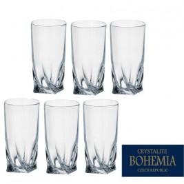 BOHEMIA Quadro szklanka long 350 ml kpl 6 szt