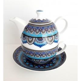 BOGUCICE MANDALA zestaw czajniczek z filiżanką 450 ml