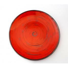 Porcelana Alumina Nostalgia Red Talerz płytki 28 cm