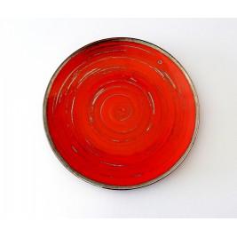 Porcelana Alumina Nostalgia Red Talerz płytki deserowy 22 cm