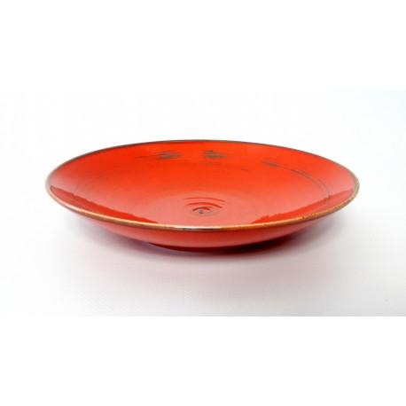 Porcelana Alumina Nostalgiaa Red Talerz głęboki 22 cm