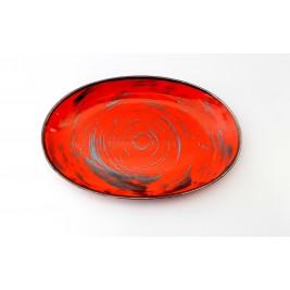Porcelana Alumina Nostalgia Red Półmisek owalny 31 cm