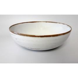 Salaterka 24 cm Nostalgia White Porcelana Alumina