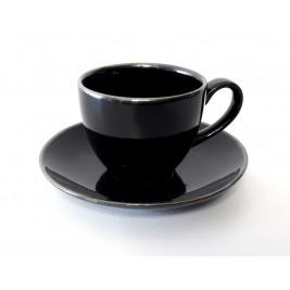 Porcelana Alumina Cottage Black Filiżanka ze spodkiem 300 ml