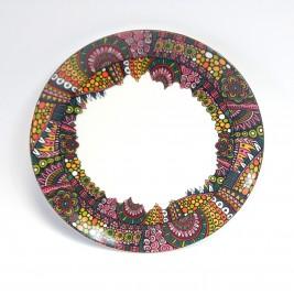 Talerz płytki deserowy 21 cm - Fargo Red Porcelana Bogucice