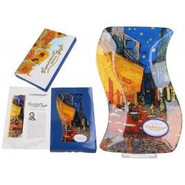 Talerz dekoracyjny 15x23 Van Gogh - Taras kawiarni w nocy