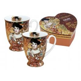 Komplet 2 kubków w sercu 350 ml - Gustav Klimt