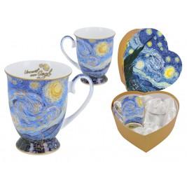 Komplet 2 kubków w sercu 350 ml - Vincent Van Gogh