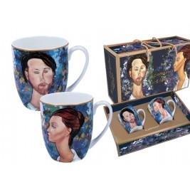 Komplet 2 kubków 450 ml A. Modigliani Lunia Czechowska i Leopold Zborowski