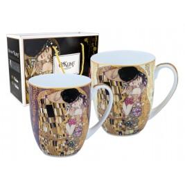 Komplet 2 kubków 450 ml Gustav Klimt Pocałunek