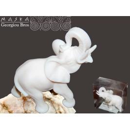 Słoń Nikodem -alabaster grecki 7 cm
