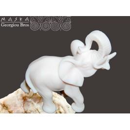 Słoń Maurycy -alabaster grecki 9 cm