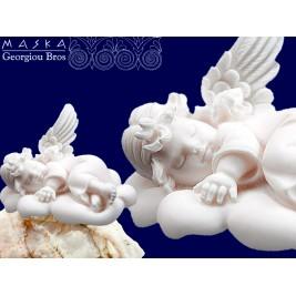Aniołek na chmurce -alabaster grecki 11 cm