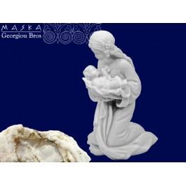 Maria z dzieciątkiem - alabaster grecki 10 cm