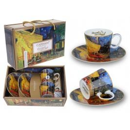 Kpl. 2 filiżanek espresso 100 ml - Vincent Van Gogh Taras kawiarni nocą