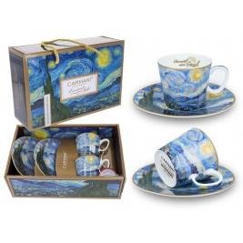 Komplet 2 filiżanek espresso 100 ml - Vincent Van Gogh Gwiaździsta noc