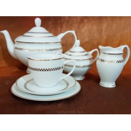 Serwis do herbaty Dama gold